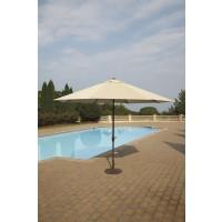 Large Auto Tilt  Beige Umbrella With Base