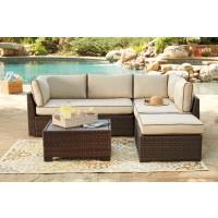 Loughran 4-Piece Outdoor Sectional Set