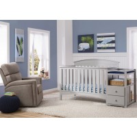 Abby Gray Crib N Changer