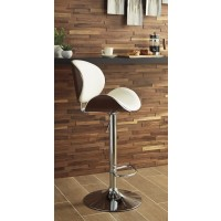 Adjustable Cream Height Barstools (1/CN)
