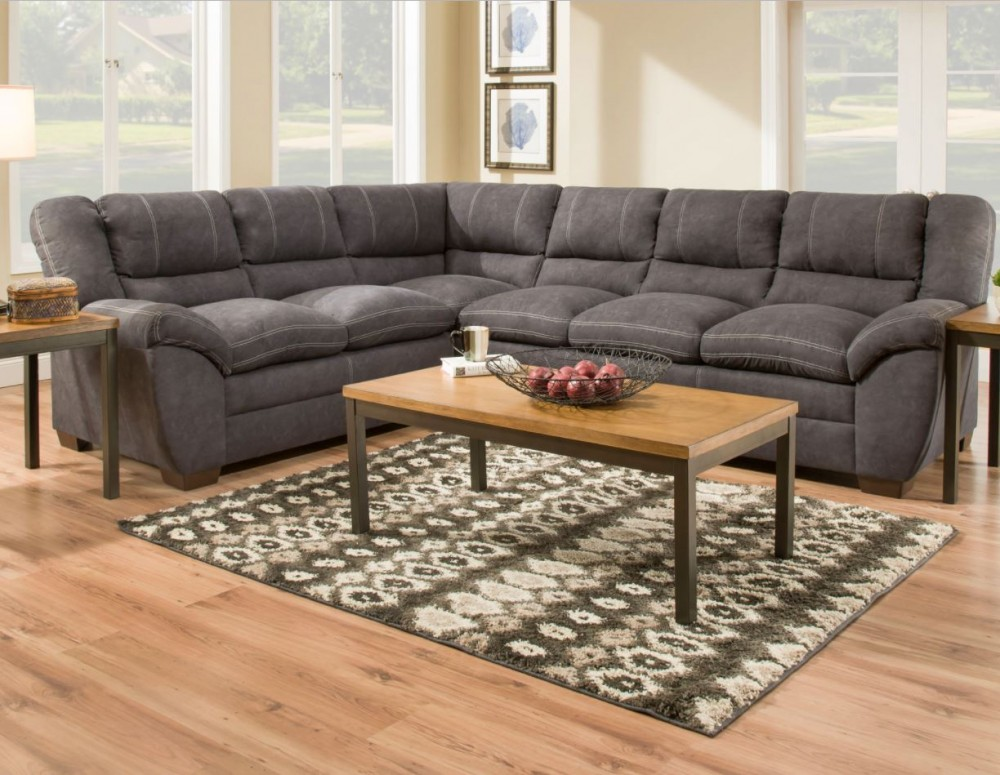 Main Event Charcoal Sectional