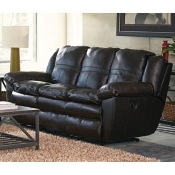 Aria Chocolate Leather Reclining Sofa | Reclining Sofas | Seat-N-Sleep