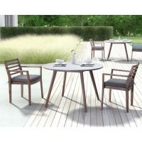 Elite Dining Table Cement & Sancerre Chairs