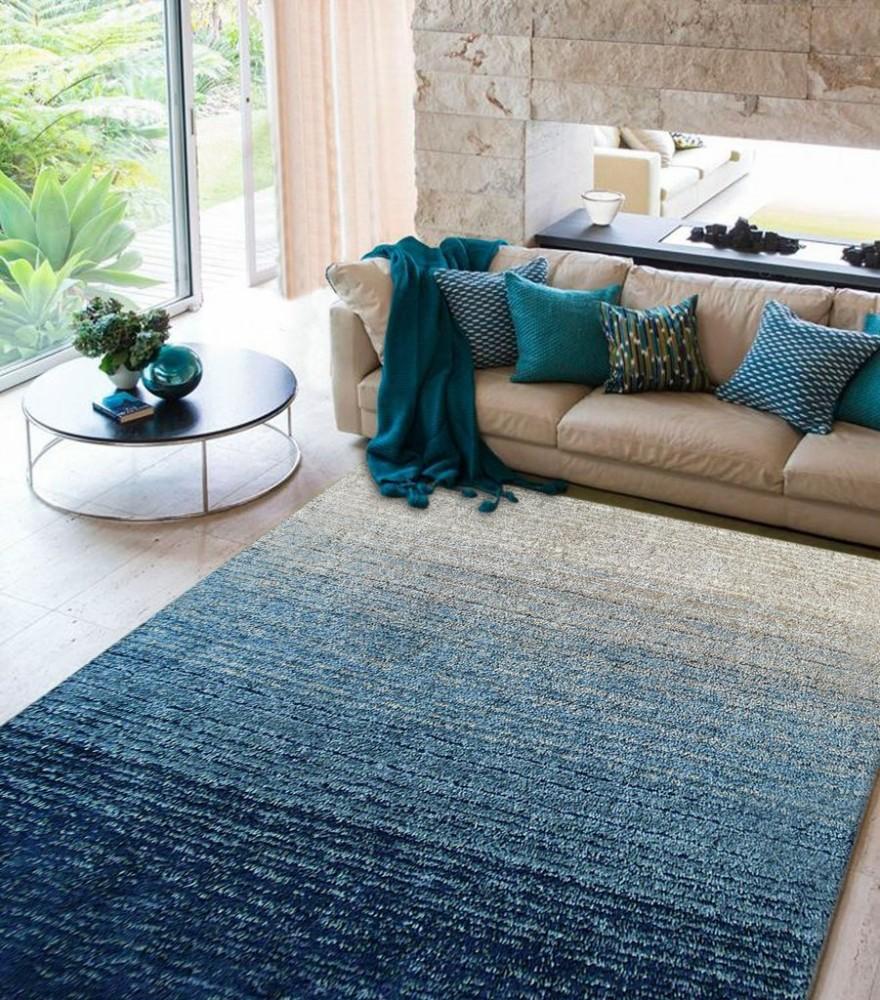 Moro Shag Collection 5'x7' Floor Rug - Multi Blue