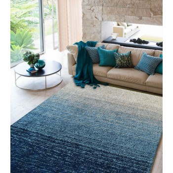 Moro Shag Collection 5'x7' Floor Rug - Multi Blue