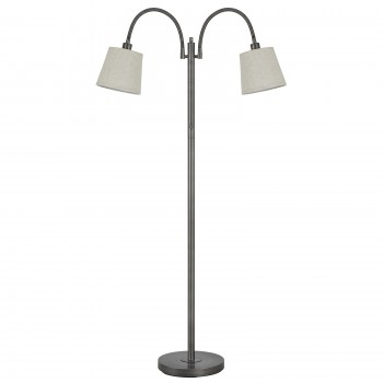 40w Gail Metal Goose Neck Lamp - Antique Silver