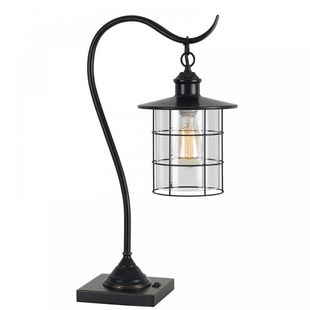 60w Silverton Dark Bronze Table Lamp