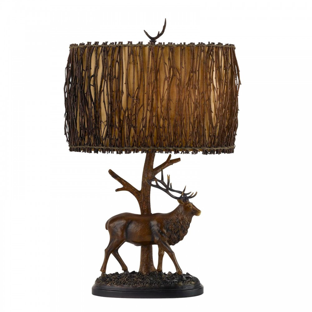 3-way Elk Resin Table Lamp