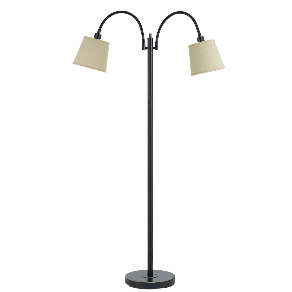 40w Gail Metal Goose Neck Lamp - Dark Bronze