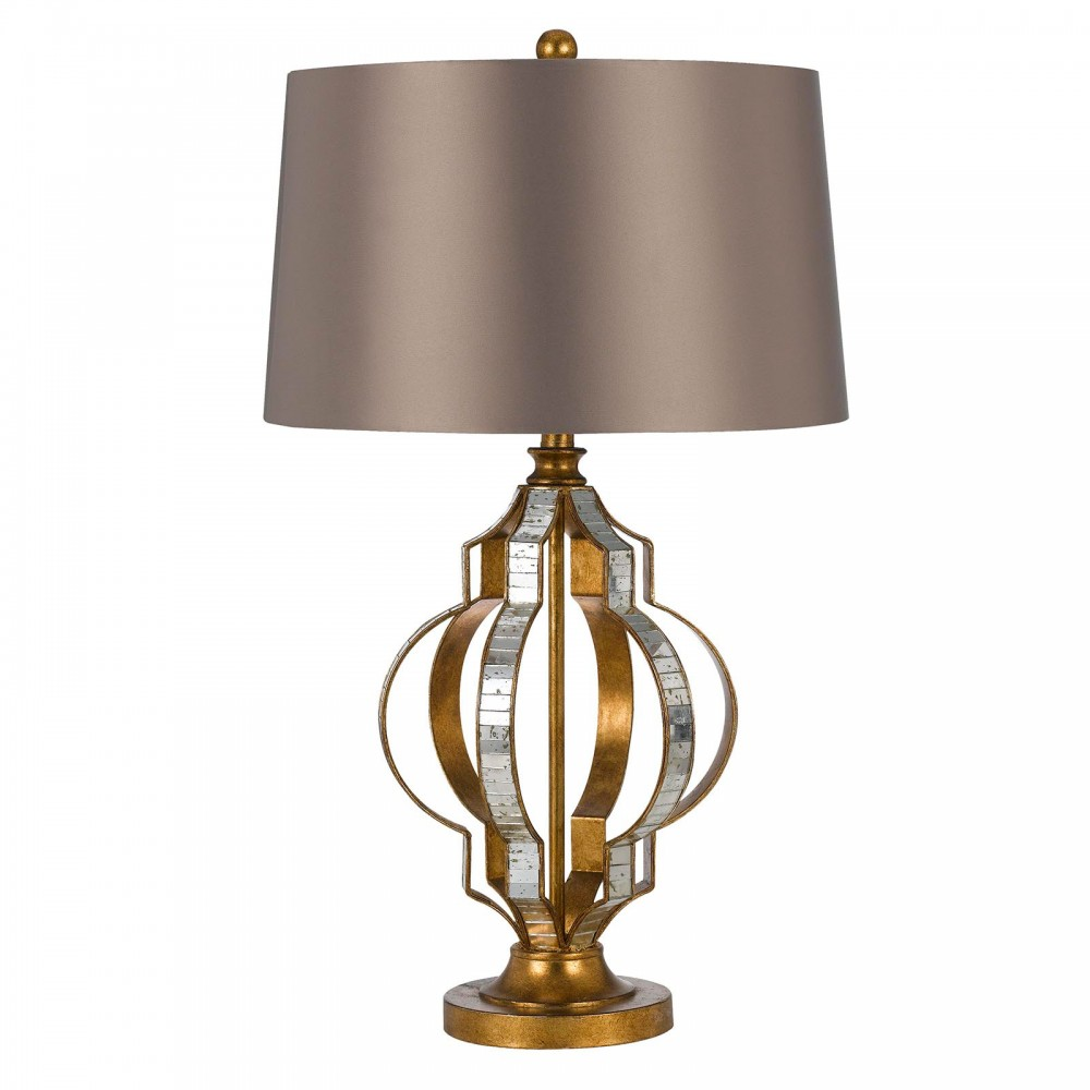 Passe Mirror/Metal Table Lamp - French Gold