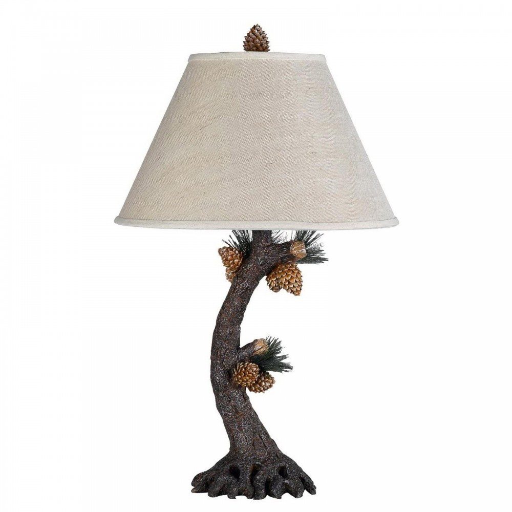 3-Way Pinecone Table Lamp