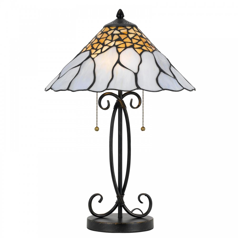 Tiffany White Table Lamp