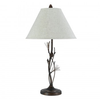 Pine & Twig Iron Table Lamp