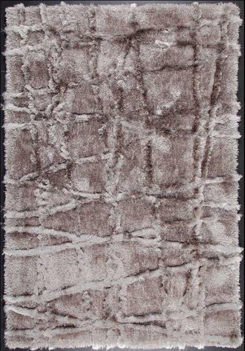 Cross Premium 5'x7' Floor Rug - Silver/Beige