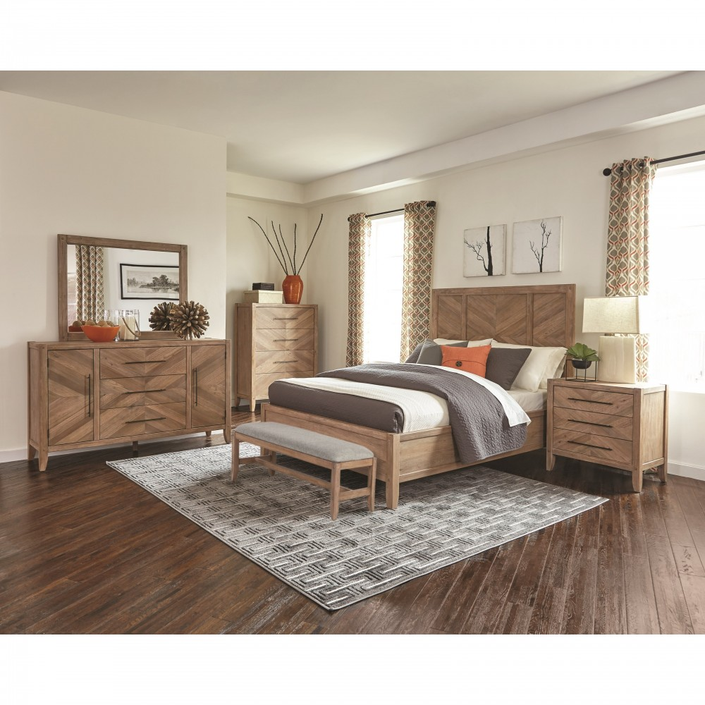 Bedroom Groups: Scott Living White Wash Collection