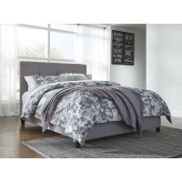 Dolante Grey King Upholstered Bed