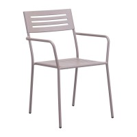 Wald Dining Arm Chair Taupe
