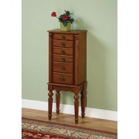 Deep Cherry Jewelry Armoire