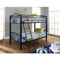 Metal Heavy Black Twin/Twin Bunk Bed