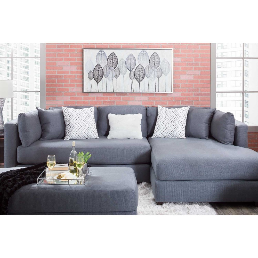 Awesome Stanton Collection Charcoal Sectional Caraccident5 Cool Chair Designs And Ideas Caraccident5Info