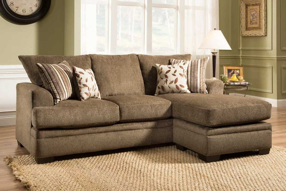 Cornelius Collection - Cocoa Chaise Sofa