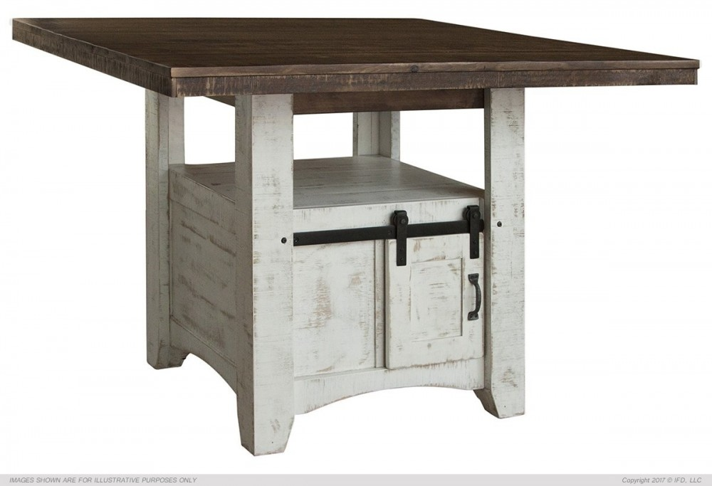 Pueblo White Collection Counter Height Dining Table Tables Seat N Sleep