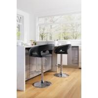 Hark 32.7 in. Black Bar Chair