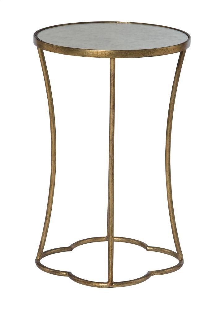 Kylie Round Accent Table In Salon Antique Gold (341)