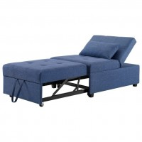 Dozer Pullout Sleeper Chair Blue