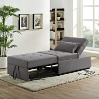 Dozer Pullout Sleeper Chair Gray