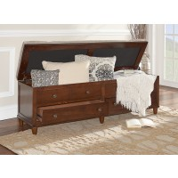 Brody Rustic Padded Top Indoor Storage Bench