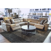 Emozione Cream Leather Sectional