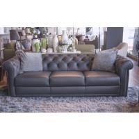 Carisma - Grey Leather Natuzzi Sofa