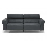 Eleganza - Grey Natuzzi Leather Sofa