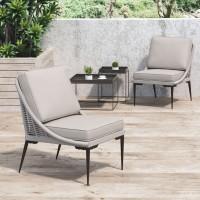 Tahiti Lounge Chair Black & Dark Gray