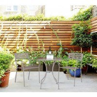 Metal Square Outdoor Table Set