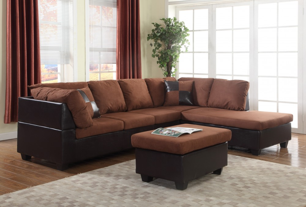 Chocolate Two Piece Sectional Under 400