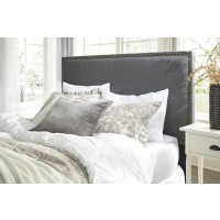 Chasebrook Full / Queen Gray Upholstered Headboard