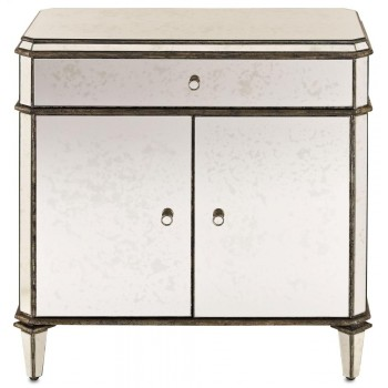 Antiqued Mirror Sideboard - 32h x 17d x 31w