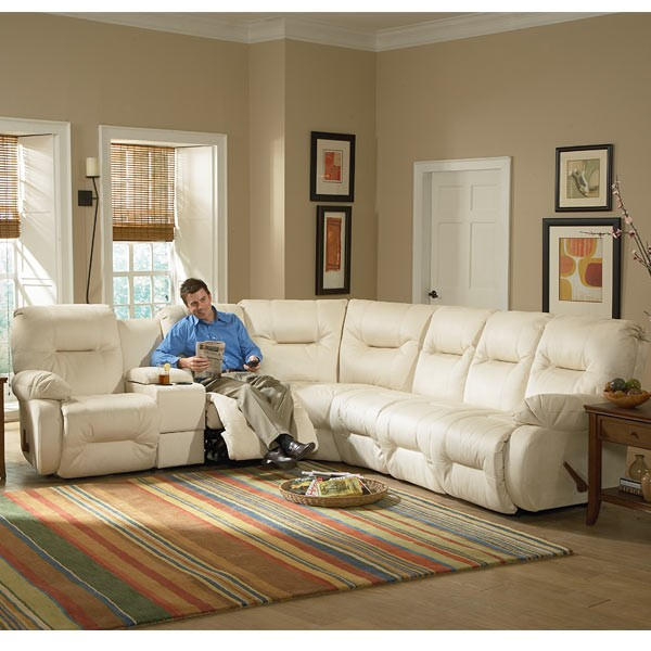 BEST HOME FURNISHINGS BRINLEY SECT. Power Reclining Sofa