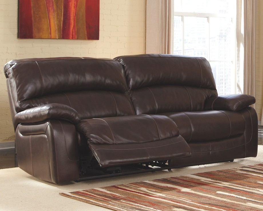 Damacio - Dark Brown - 2 Seat Reclining Sofa | U9820081 | Leather ...