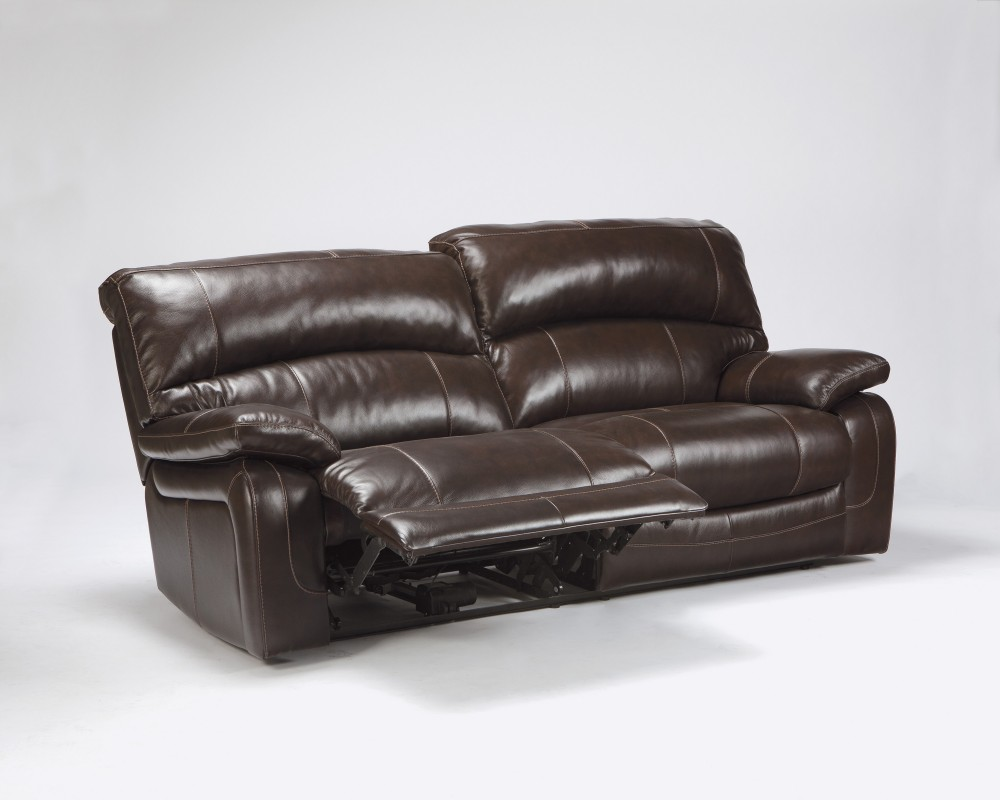 Damacio dark brown 2 seat reclining sofa u9820081 leather reclining sofas furniture crossroads