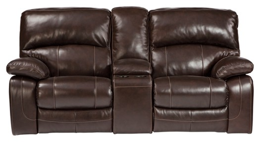 Damacio - Dark Brown - Glider REC PWR Loveseat w/CON