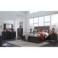 Proximity Heights Contemporary King Upholstered Bedroom