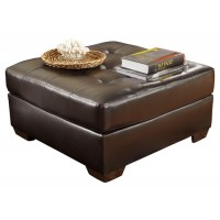 Alliston - Chocolate - Oversized Accent Ottoman