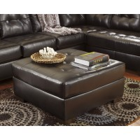 Alliston DuraBlend - Chocolate - Oversized Accent Ottoman