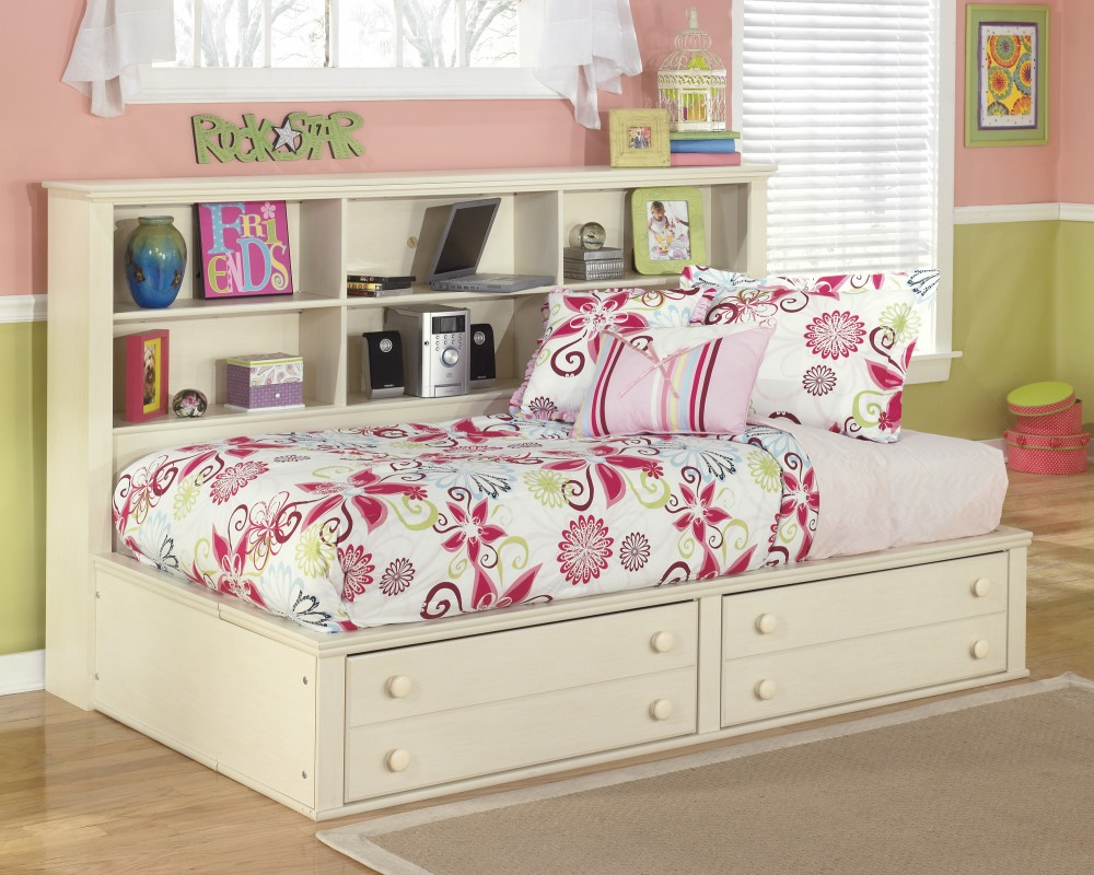 Cottage Retreat Twin Bookcase Side Rails B213 90 Bed Frame