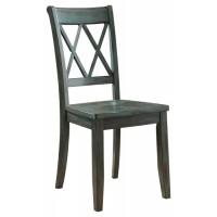 Mestler - Blue/Green Dining Room Side Chair (Set of 2)