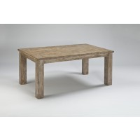 Mestler - Bisque Rectangular Dining Room Table
