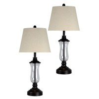 L321577 Lamps with Lantern Design Base (Set of 2)